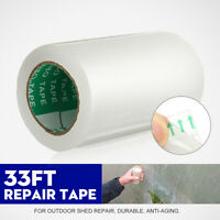 32.8FT 10CM*10M Transparent Plastic Vegetable Greenhouse Repair Film Tape  NEW