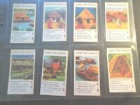1961 Quaker Oats or Wheat Cereal HOMES AND HOUSES Trade set 12 card like tobacco