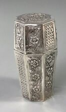 More details for antique chinese silver container 42g 9cm ezx