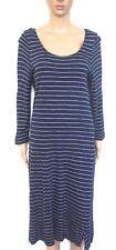SPORTSCRAFT dress, dark blue mid calf, sz. 12 - striped, all seasons wear