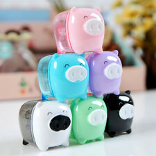 New Funny Cute Pig Pencil Sharpener Stationary School Kid Design Random Delivery