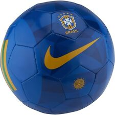 Nike Brazil Supporter  WC World Cup 2018 Soccer Ball Royal Blue  Size 5