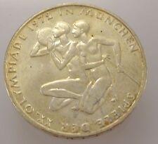 10 DM de plata conmemorativa de Alemania/olimpiada 1972/plata