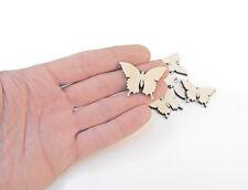 50 x Holzern Schmetterling Formen Holz Verzierung Handwerk Dekoration