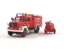 Feuerwehr Magirus Deutz mit Anhänger DB AW Hannover 1:87 H0 (Kibri?)
