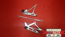 (A) CAFE RACER REAR SETS IN POLISHED ALLOY -NEW - FREE P/P