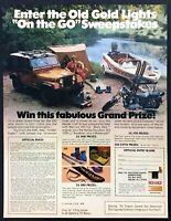 1980 AMC Jeep Golden Eagle Camper photo Old Gold Cigarettes vintage print ad