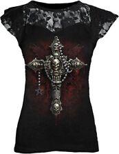 Spiral Death Bones Shirt Lace Mesh Top Angel Elf Gothic #3121 093 S