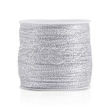 "50 Yards 1/8""3mm Silver Sheer Organza Ribbon Craft Hair Bows Wedding Décor IF"