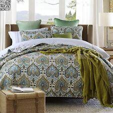 Embroidery King Size Quilt Coverlet Patchwork Bedspread Blanket Set Cotton 3pcs
