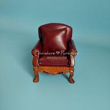 1:12 Dollhouse Miniature Furniture Lion Leg Leather Single Sofa Armchair