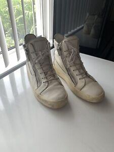 Giuseppe Zanotti White HighTop Sneakers Sz 41.5 EUR
