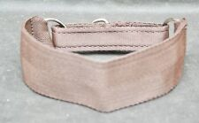 """Martingale Lurcher Dog Collar Brown Fits 12-17"""" Soft Equine Strong Webbing"""