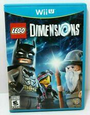 * LEGO Dimensions Nintendo WiiU Wii U Game, Art Work & Case *Free Ship 👾