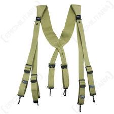 US Army M36 Khaki Webbing Suspenders - WW2 Repro American Braces Webbing Army