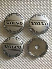 4x Volvo Wheel Centre Cap Hub Alloy New Center Cap 60mm 6Cm Silver/Black