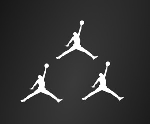 "3 Jordan white Iron On Logos 2"" Inch Jumpman Vinyl HTV FREE SHIPPING!"