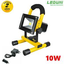 Foco proyector LED portátil con batería 10W Luz Frio Mejor Precio