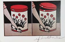 ROY LICHTENSTEIN * STEP-ON CAN WITH LEG * PRINT HAND SIGNED SIGNATURE W/COA