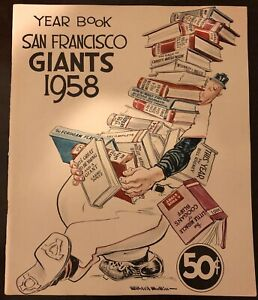 1958 SAN FRANCISCO GIANTS Official Yearbook WILLIE MAYS 1st Year JOHN ANTONELLI