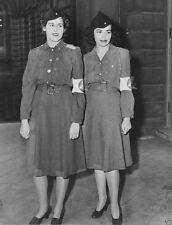 New WW2 World War II 8x10 Photo: American US AWVS Women in Uniform Caps 1941