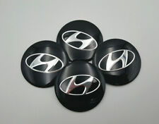 "4x 56mm 2.2"" Auto Car Wheel Center Cap Emblem Decal Sticker For Hyundai Black"