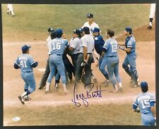 George Brett Signed Photo 16x20 Pine Tar Game & Dated Royals Autograph Sweet JSA