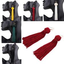 Women Bohemian Fringe  Long Tassel Hook Drop Dangle Earrings Jewelry Elegant