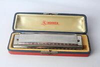 Rare Vintage HOHNER The 64 CHROMONICA Octaves Professional Model Harmonica +Case