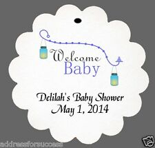24 Personalized Welcome Baby Boy Baby Shower Favor Scalloped Tags Party Favors