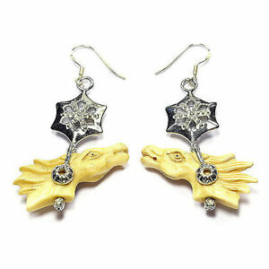 Race Horse Earrings Ladies Handmade Gemstone Jewellery Tantric Tokyo