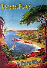 St Raphael-Viajes Vacaciones Holiday A3 cartel impresión