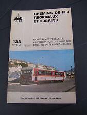Chemins de fer secondaires 138 1976 les tramways d'Orléans