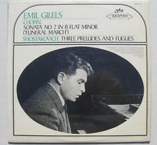 EMIL GILELS Chopin:Sonota No.2 in B Flat Minor Shostakovich: 3 Preludes & Fugues
