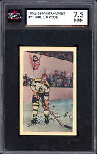 1952 53 PARKHURST HOCKEY #71 HAL LAYCOE KSA 7.5 N MINT + BOSTON BRUINS CARD