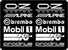 12 Matt White Car Door Stack  Sponsor Logo Stickers,Graphics,Decals  set 2