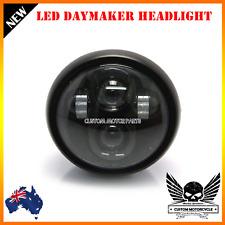 "Black 6.5"" LED project headlight daymaker Kawasaki VN Vulcan Classic Nomad Drift"