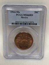 1964 Mexico 20 Centavos PCGS MS 66 RED
