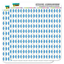 """Guatemala National Country Flag 0.5"""" Scrapbooking Crafting Stickers"""