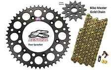 Renthal Black Sprocket and Gold Chain Kit Honda CRF250r CRF Crf250 04-15 13-50T