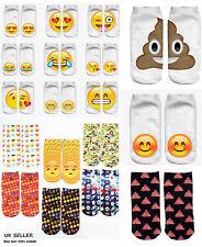 Socks Emoji trainer sock stretchy unisex 3D print graphic Poo Happy Love emoji