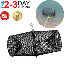 Crawfish Net Trap Heavy Duty Vinyl Minnows Bait And Catch Steel Metal Mesh NEW