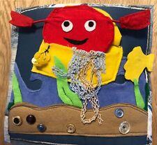 Quiet book libro tattile e interattivo educational Montessori in stoffa