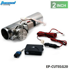 """2.0"""" Electric I-Pipe Exhaust Downpipe Cutout E-Cut Out Valve System Kit + Remote"""