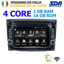"""AUTORADIO 7"""" PER FIAT DOBLO' 2015-2018 ANDROID 6 DOBLò WIFI GPS 1GB 16GB DVD BT"""