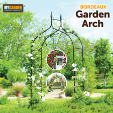 Metal Garden Arch Traditional Archway Climbing Plants Support Outdoor Garden UK