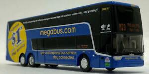 Vanhool TDX Double Decker Diecast Bus Megabus 1/87 Scale Iconic Replicas New!