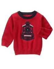 Gymboree Buffalo Lodge Red Train Pullover Sweater Baby Infant Boy 18-24 Months