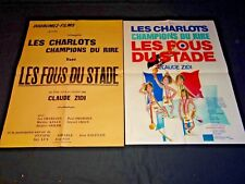 les charlots  LES FOUS DU STADE affiche cinema 1972 modele rare