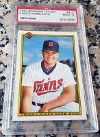 CHUCK KNOBLAUCH 1990 Bowman Tiffany SP Rookie Card RC PSA 9 Yankees 4 WS Rings